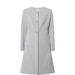 Collarless Dress Coat