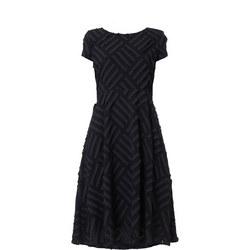 Abstract Cap Sleeve Dress