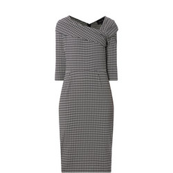 Houndstooth Midi Dress