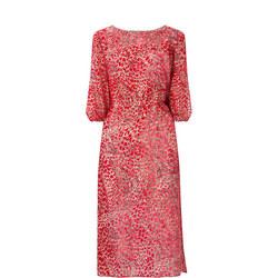 Velvet Leopard Midi Dress