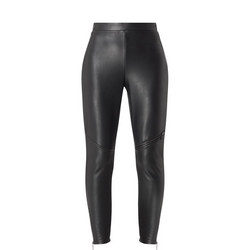 Faux Leather Zip Leggings