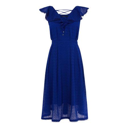 Broderie Midi Dress