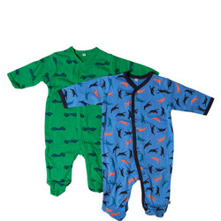 Two-Pack Airplane Print Sleepsuits