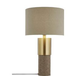 Akani Table Lamp Grey/Brass