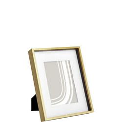 Quadra Brushed Aluminium Photo Frame Gold 8x10