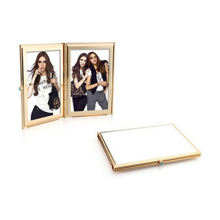 Pastel White Gold Double Frame 2x3 Inches