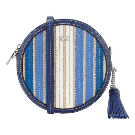 Medium Woven Canteen Crossbody Bag