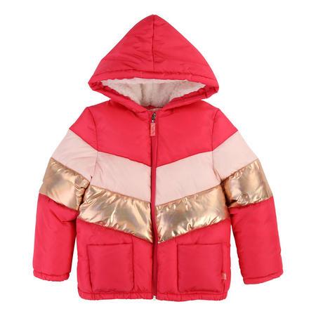 Block Stripe Puffa Jacket