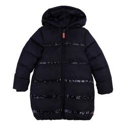 Glitter Stripe Puffa Jacket