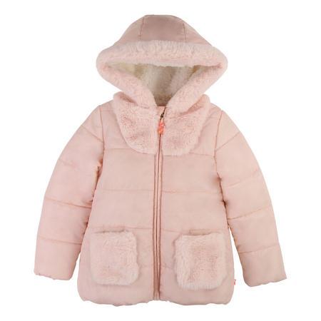 Girls Shearling Puffa Jacket