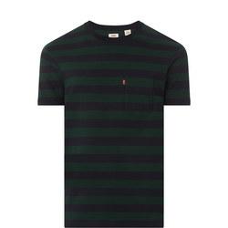 Sunset Striped Pocket T-Shirt