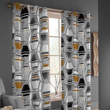 Kasha Curtain 168cm x 183cm Multi