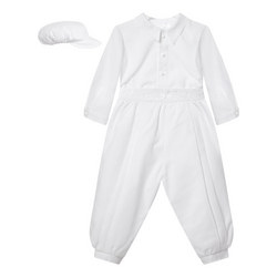 Two-Piece Peter Pan Collar Christening Outfit