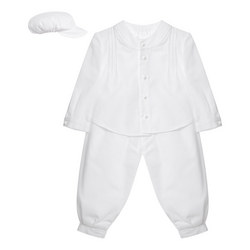 Two-Piece Grandad Collar Christening Outfit
