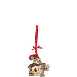 """Sparkle """"Let it Snow"""" Snowman Decoration"""