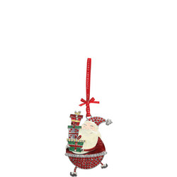Sparkle Santa Holding Gifts Decoration
