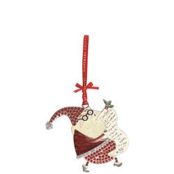 Sparkle Santa with List Decoration