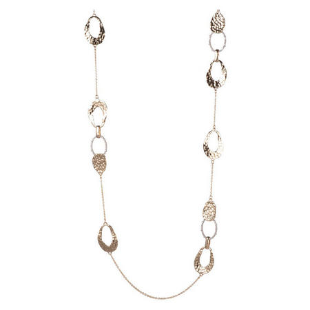 Alexis Bittar Hammered Metal Link Necklace