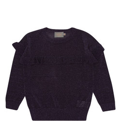 Frill Lurex Sweater