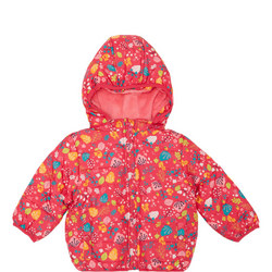 Baby Quilted Floral Print Coat