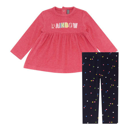 Two-Piece Rainbow T-Shirt And Leggings Set