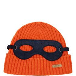 Mask Motif Beanie Hat