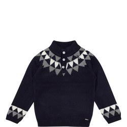 Boys Half Button Sweater