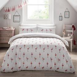 Flamingos Duvet Set Pink