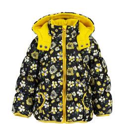 Floral Print Puffer Jacket