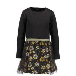 Girls Floral Tulle Dress