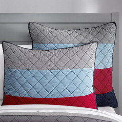Block Stripe Quilted Standard Pillowcase