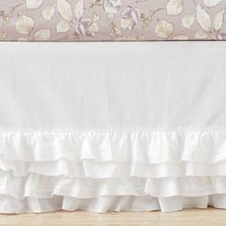Organic Sadie Ruffle Cot Skirt