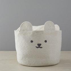 Knit Bear Storage Basket Large