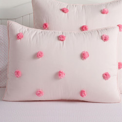 Washed Sateen Pom Pom Standard Pillowcase