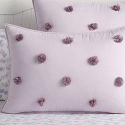 Washed Sateen Pom Pom Standard Pillowcase
