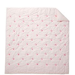Washed Sateen Pom Pom Bedspread