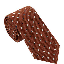 Square Print Tie