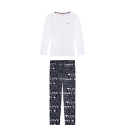 Long Sleeve Logo Print Pyjama Set