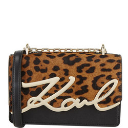 Leopard Signature Shoulder Bag
