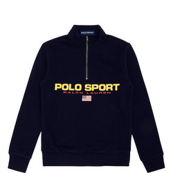 Boys Flag Half-Zip Sweat Top