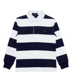 Boys Rugby Bar Stripe Polo Shirt