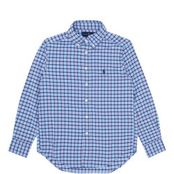 Boys Stretch Check Print Shirt
