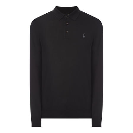 Merino Wool Long Sleeve Polo Shirt