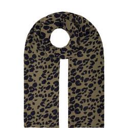 Along Leopard Print Scarf