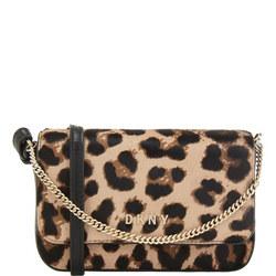 Leopard Flap Crossbody Bag