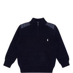 Boys Knitted Half-Zip Sweater