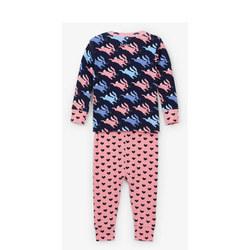 Leaping Bunny And Heart Pyjamas