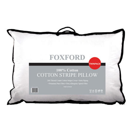 Cotton Stripe Pillow Pair