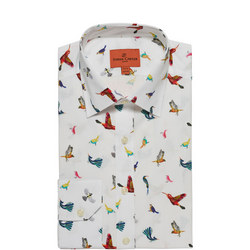 Exotic Birds Single Cuff Shirt