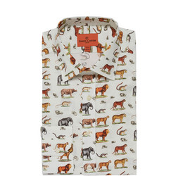 Safari Animal Single Cuff Shirt